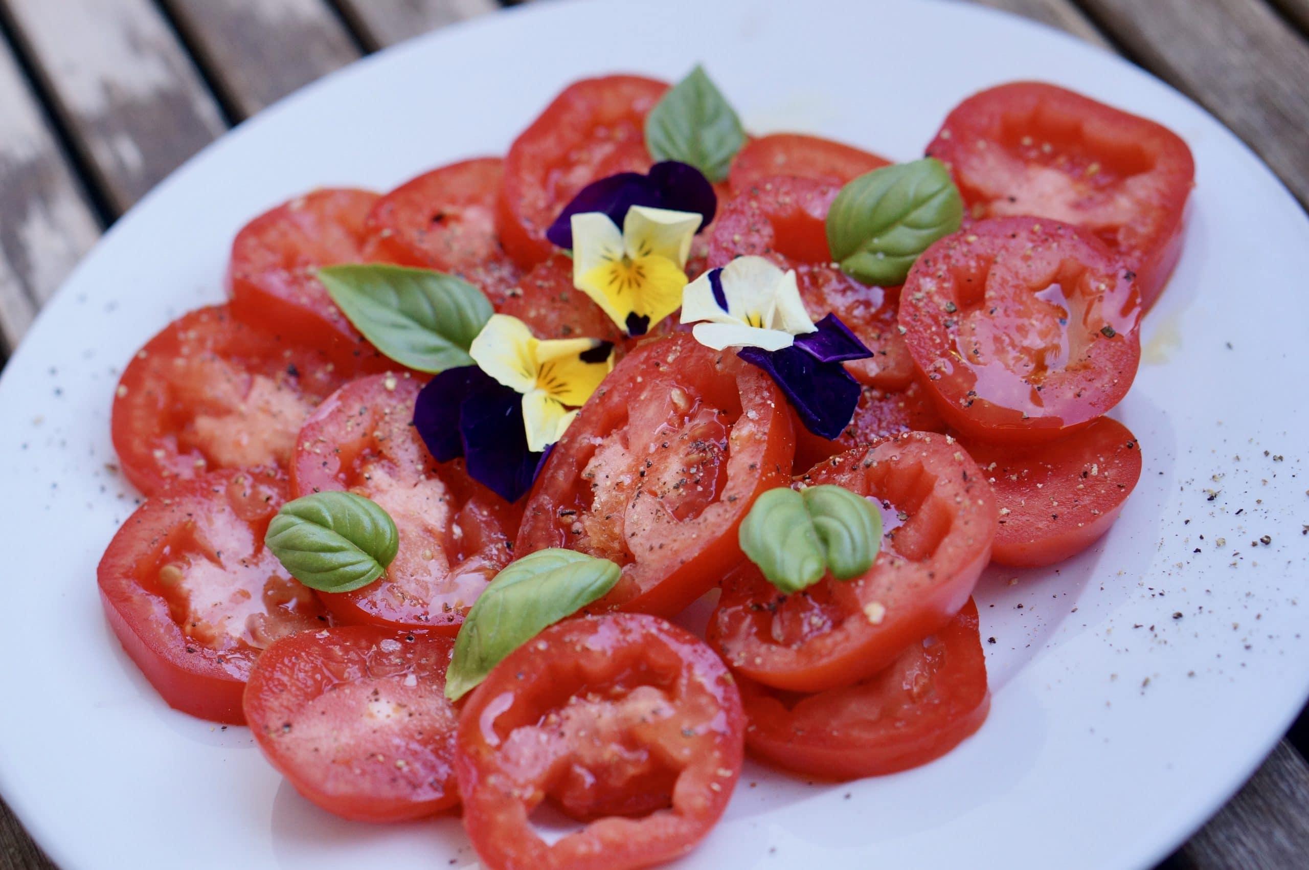 tomates, salade, tomatoes, salad, sa marzano