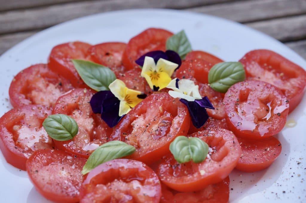 Salade de tomates San Marzano