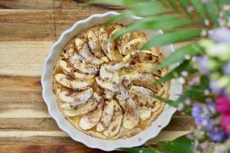 tarte aux pommes, apple pie, apfelkuchen