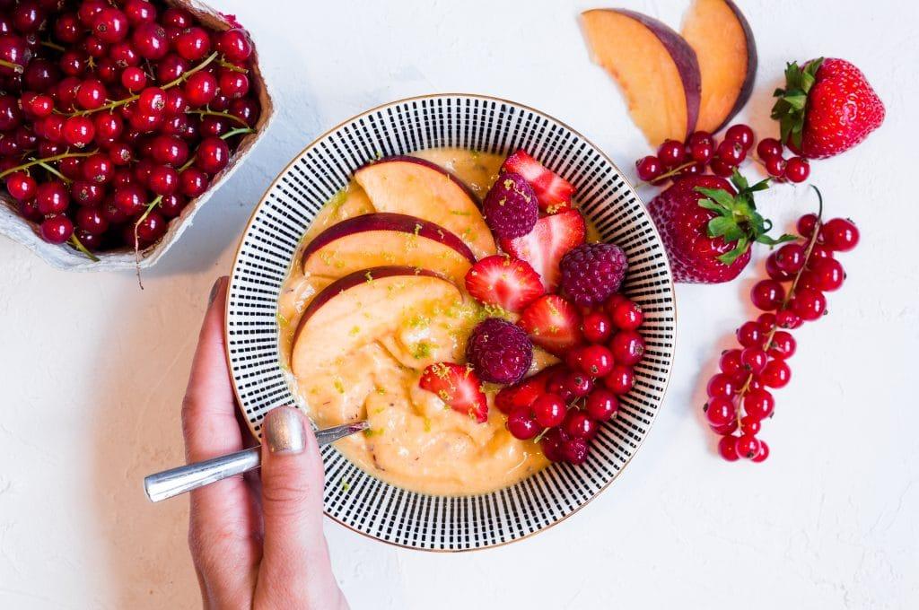 Peach & Mango Nice Cream