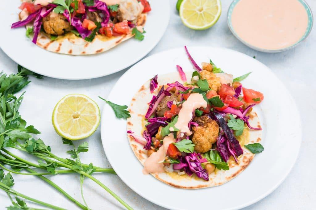 Tacos de Poisson et Chou-fleur