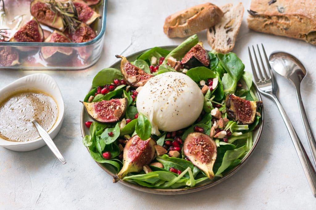 Roasted Fig and Burrata Salad