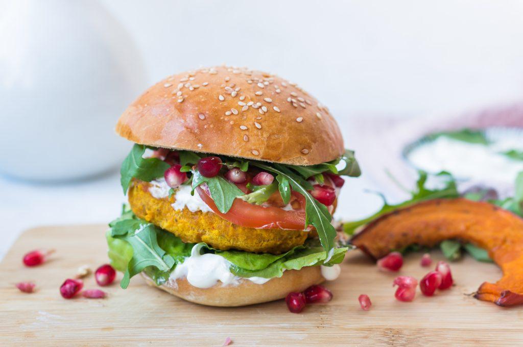 Vegetarian Squash Burger