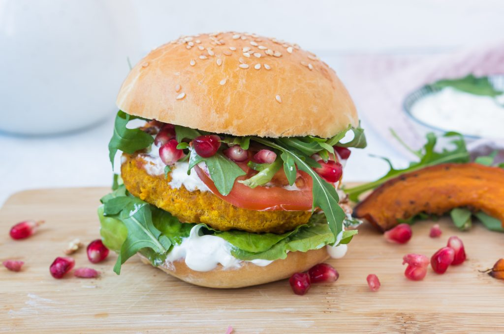 Burger Végétarien au Potimarron