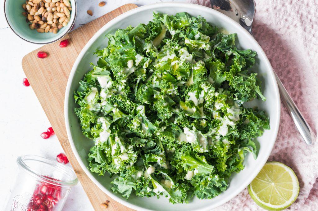Kale, Apple and Feta Salad