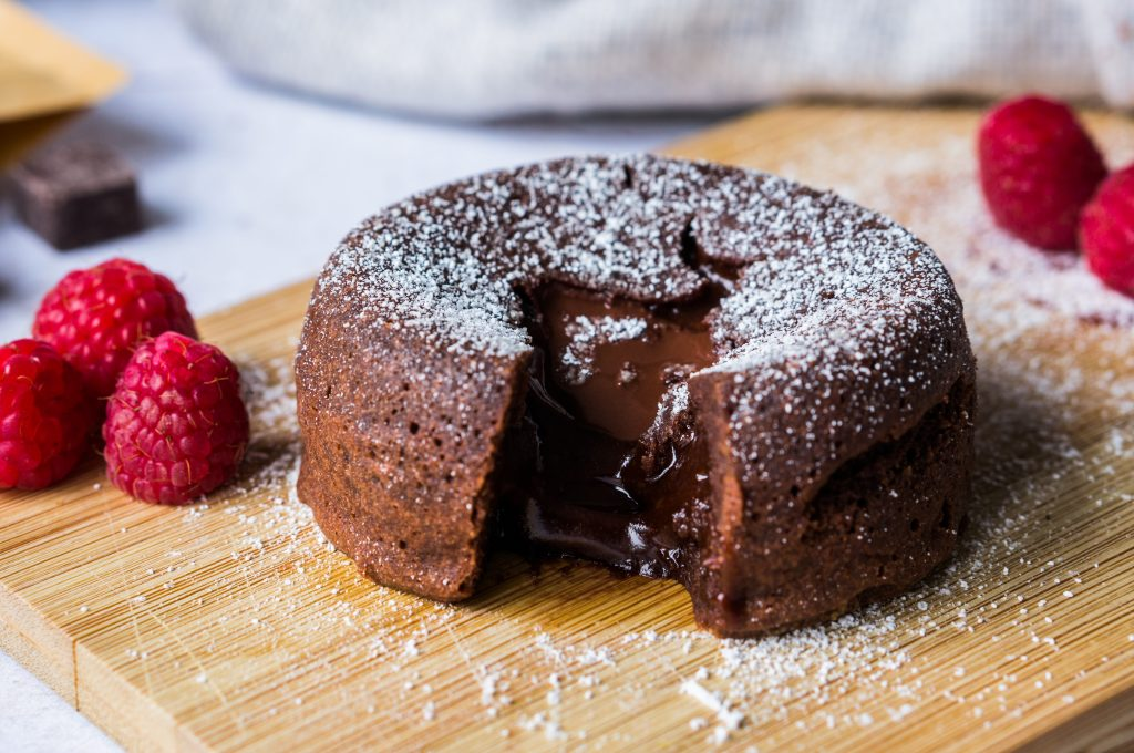 Chocolate Cake with Melting Heart