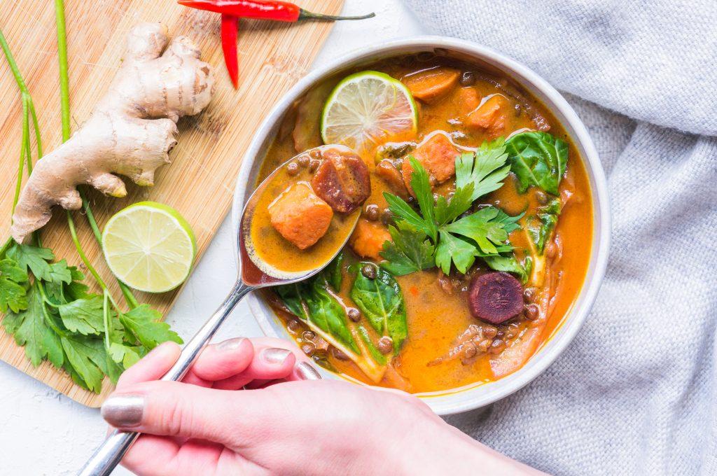 Curry de Lentilles et Patate Douce
