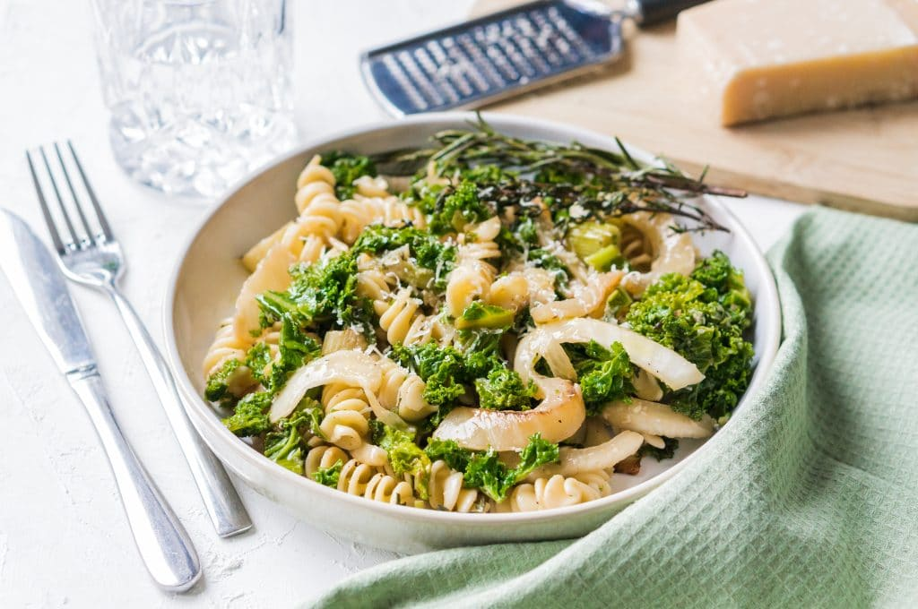 Fusilli with Fennel, Kale and Parmesan