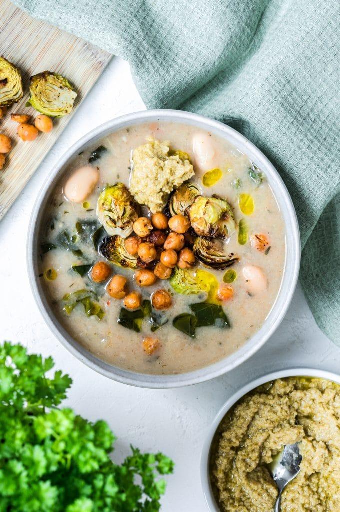 White Bean, Thyme and Lemon Soup