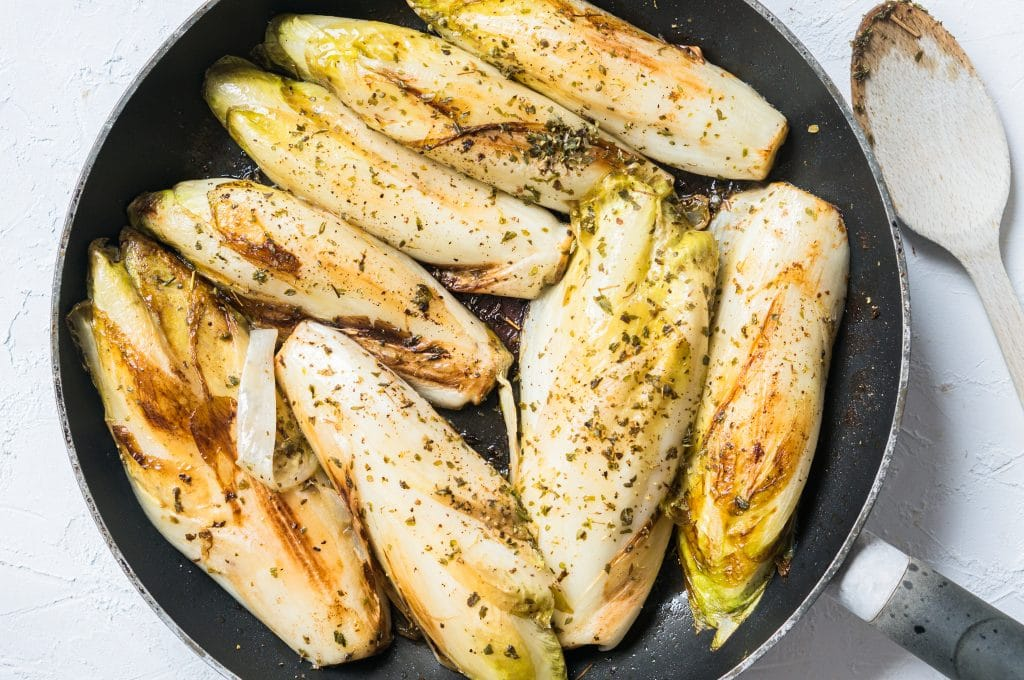 Braised endives with herbes de Provence