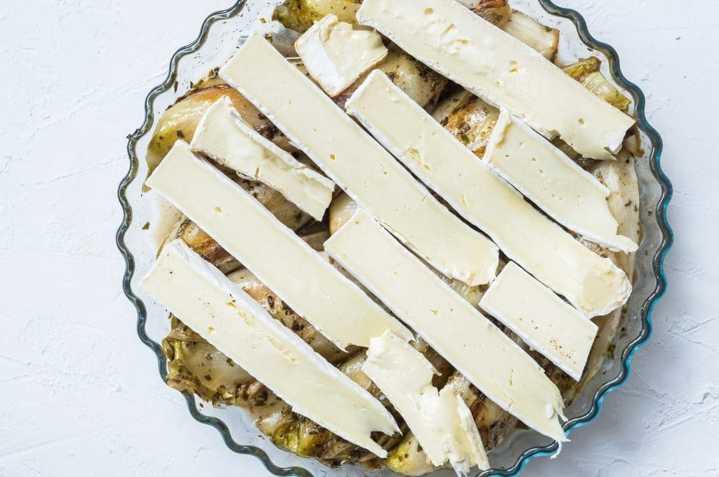 Endives covered with brie