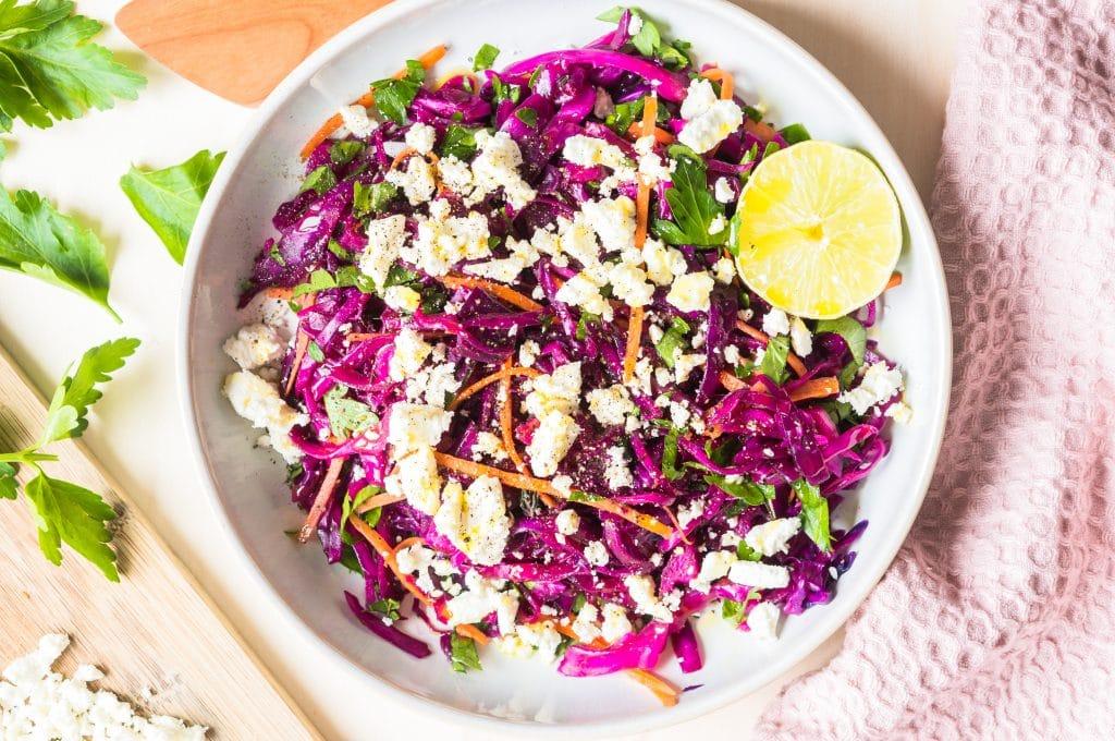 Salade de Chou Rouge Pointu et Feta