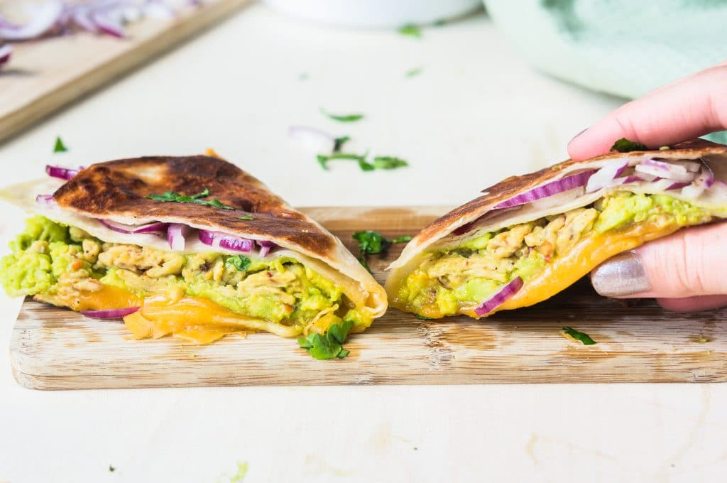 Avocado and Scrambled Egg Wrap #tortillatrend