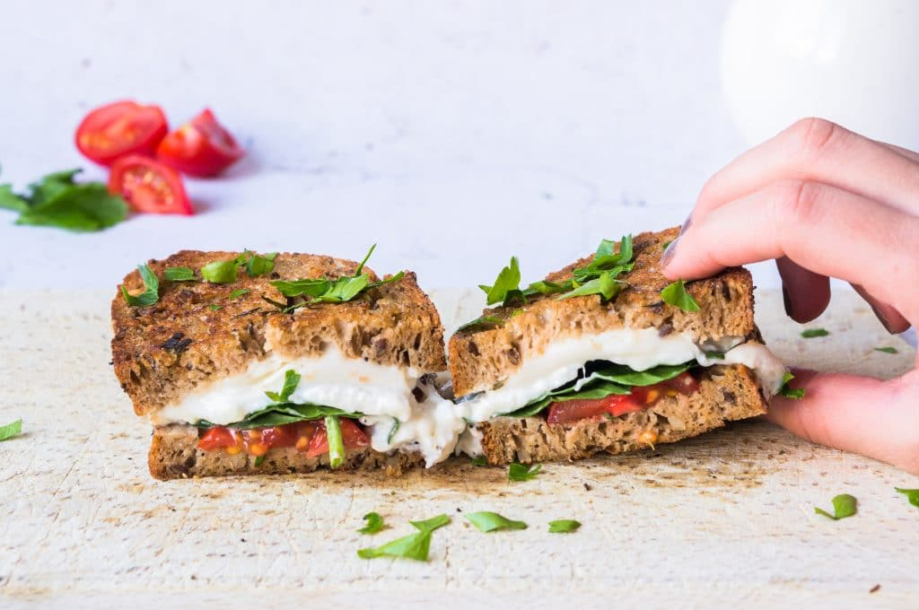 Grilled Sandwich with Burrata
