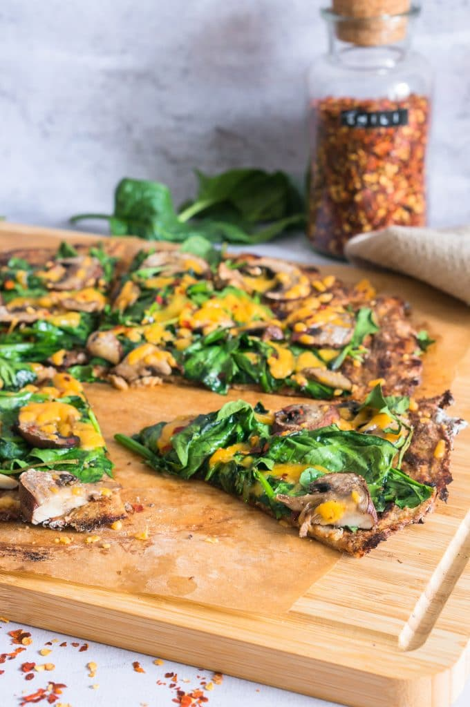 Cauliflower Galette with Spinach and Mushroom