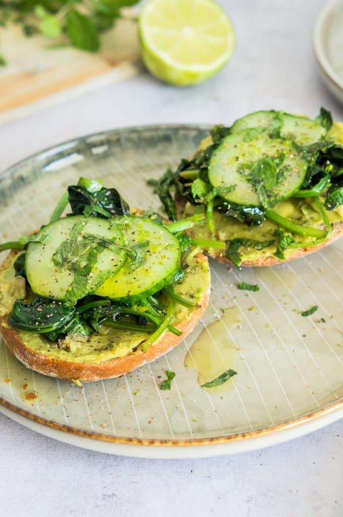 Tartine Healthy Avocat, Menthe et Citron Vert