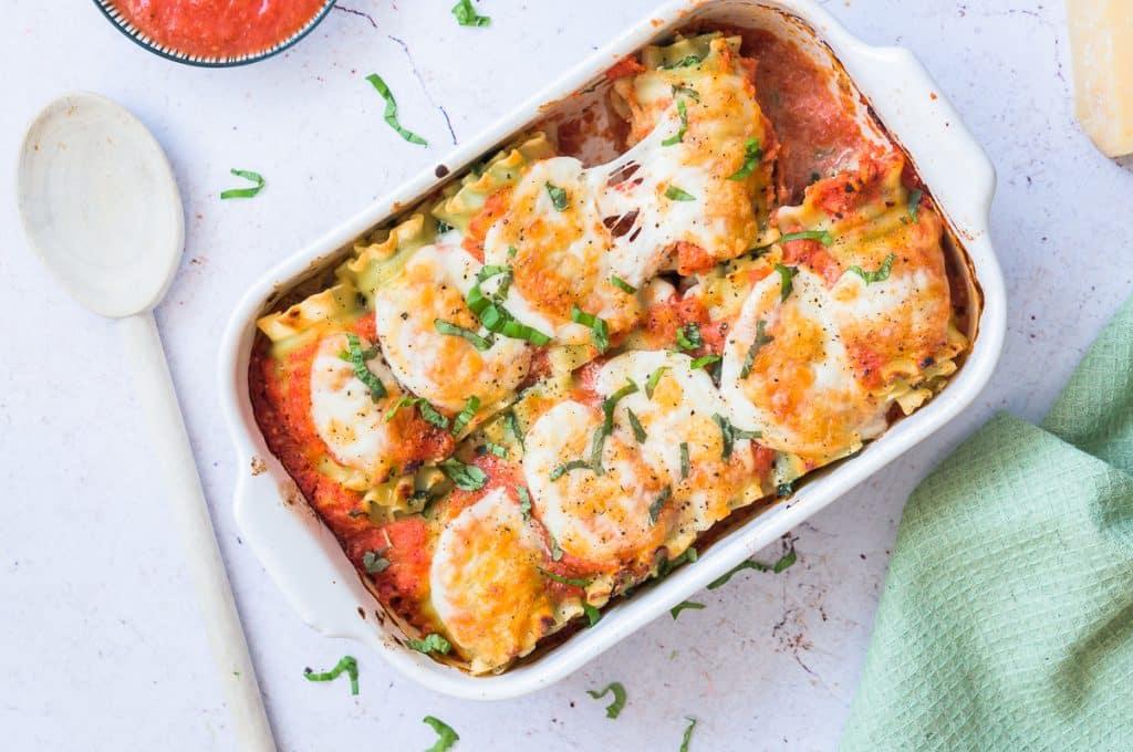 Roulés de Lasagne Épinards et Ricotta