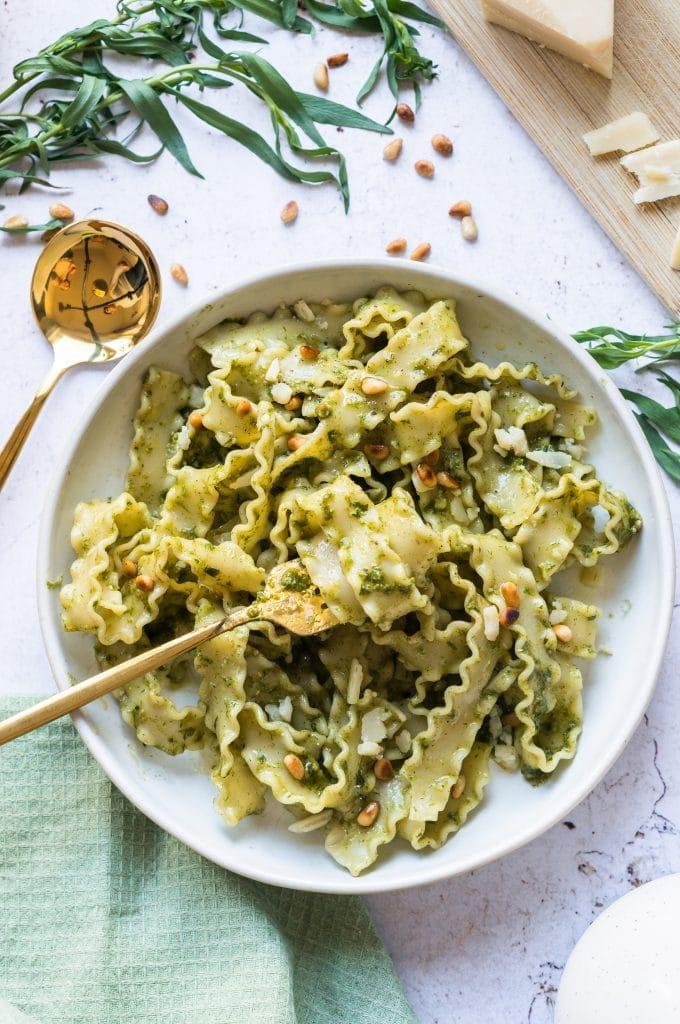 Pâtes au Pesto à l'Estragon