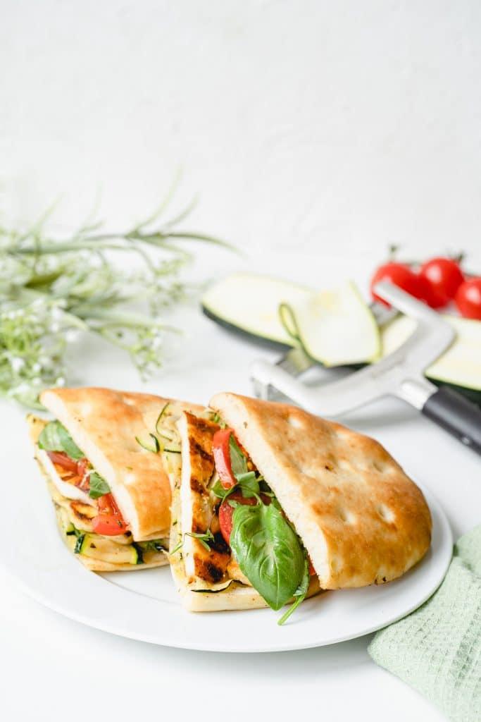 Panini à l'Halloumi et Courgettes Grillées
