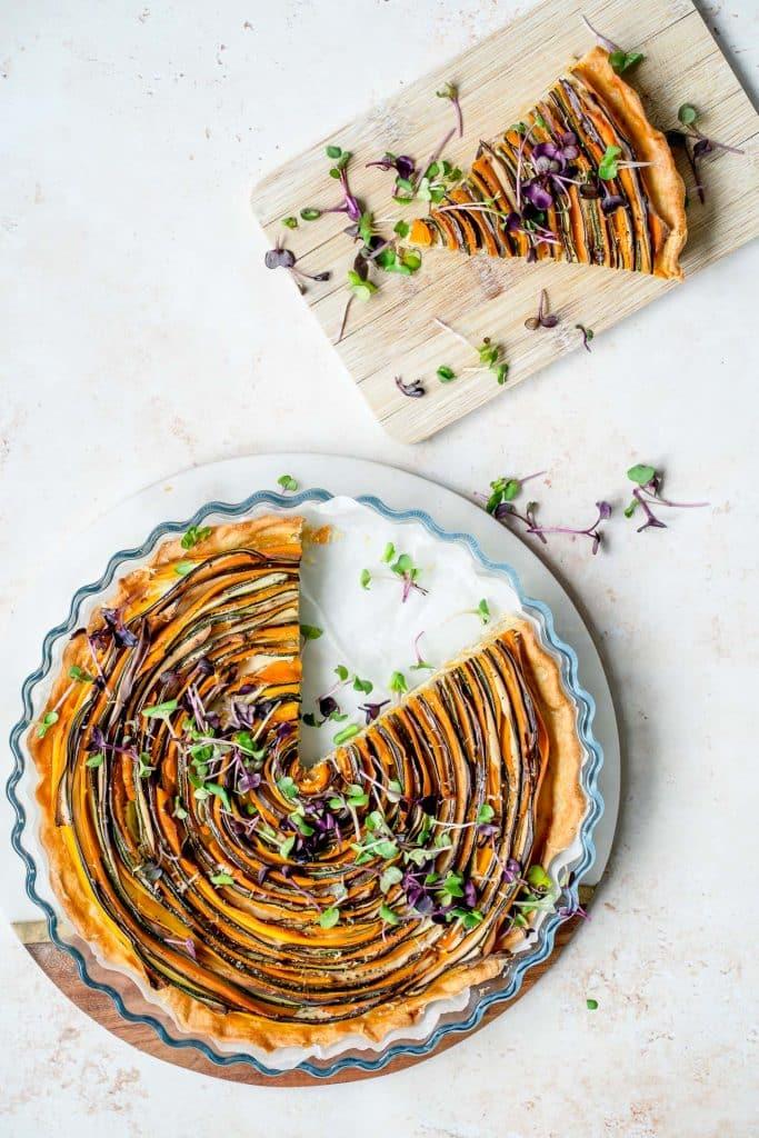 Tarte Spirale aux Légumes et Parmesan