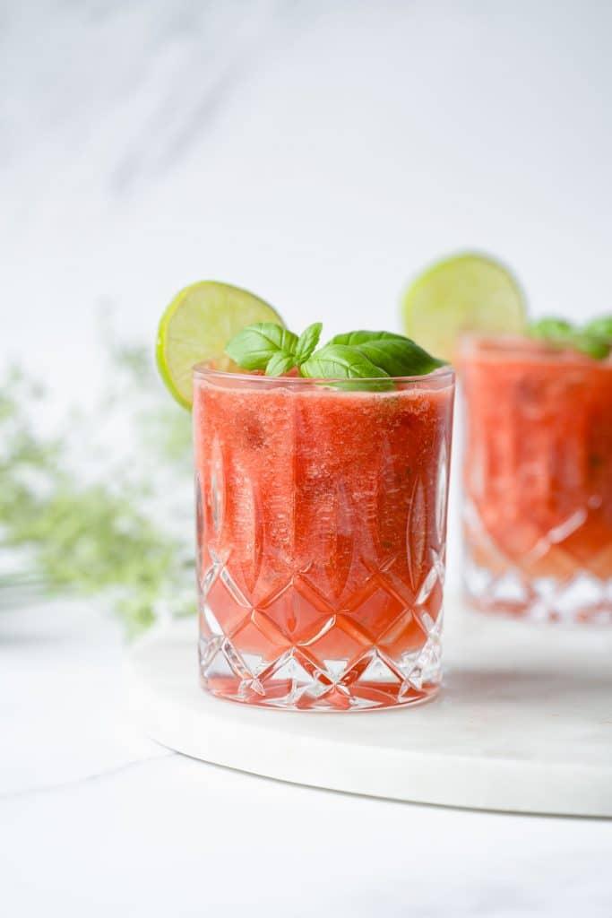 Watermelon, Basil, Lime Drink