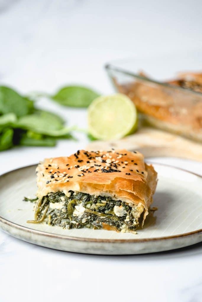 Spanakopita oder griechische Spinat-Lasagne