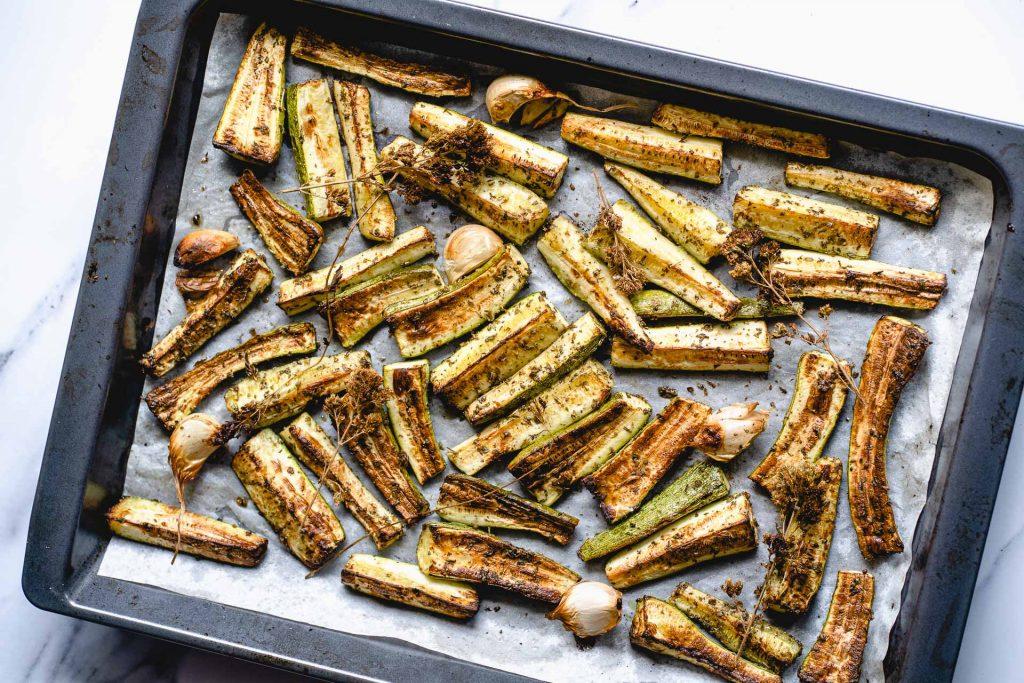 Grilled Zucchini with Oregano